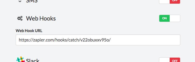 Enabling StatusGator web hooks